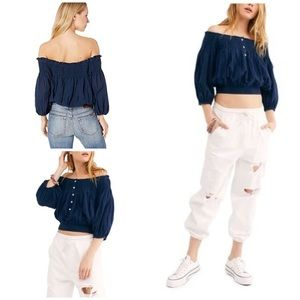 Free People Dancing till Dawn Off the Shoulder Top